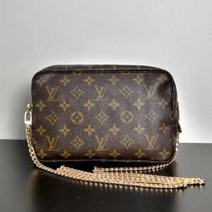 🛍Louis Vuitton Trousse 23 Crossbody 881TH